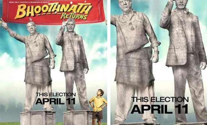 bhootnath returns new poster its boman irani versus big b