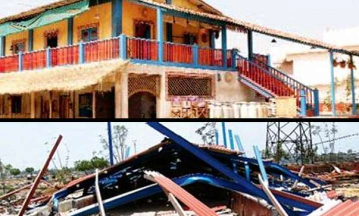 bhopal civic authorities demolish aarakshan set
