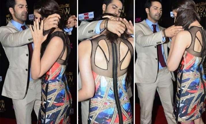 big life ok now awards varun dhawan displays his caring