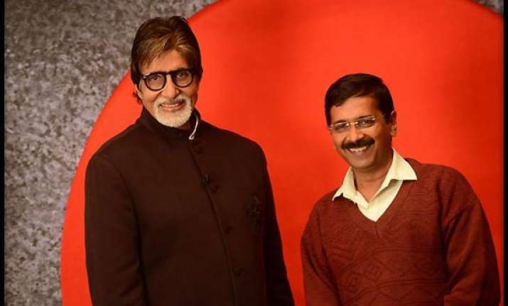 amitabh bachchan and arvind kejriwal come face to face at