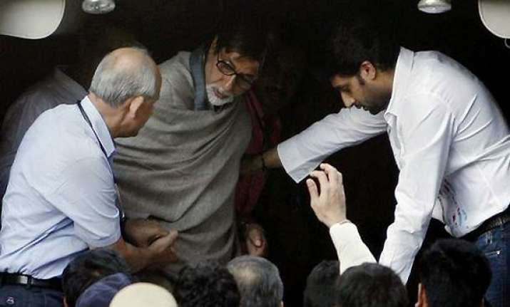 happy to be back in familiar surrounding says big b