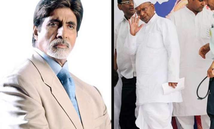 big b extends support to hazare