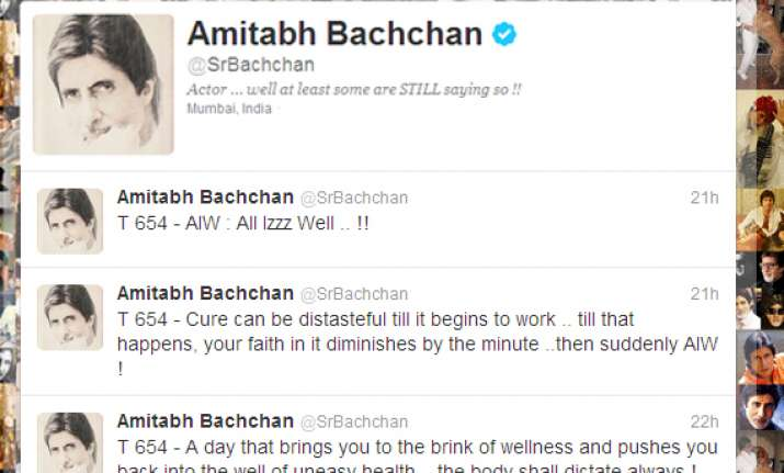 big b tweets all is well