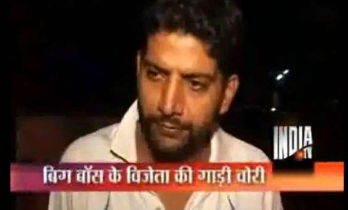 bigg boss 2 winner ashutosh kaushik s car stolen