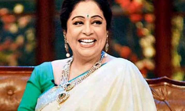 black flags eggs welcome actress kirron kher in politics
