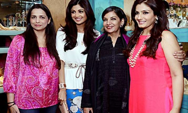 bollywood beauties spotted at the launch of diva collection