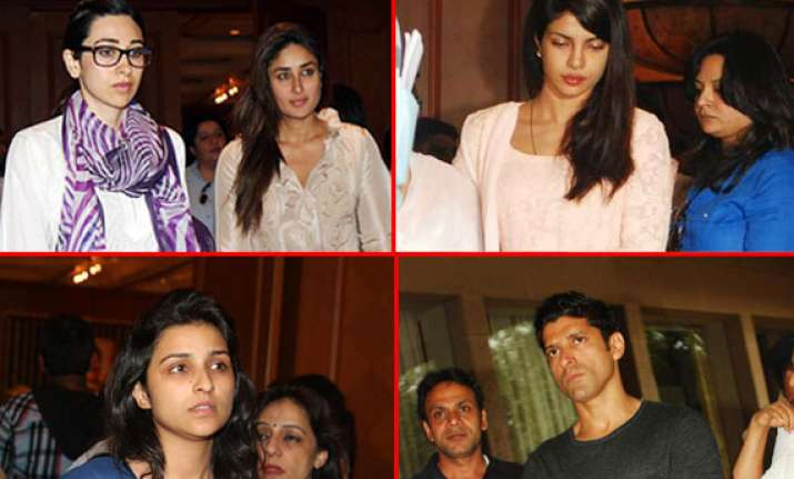 bollywood stars converge at priyanka chopra s father s