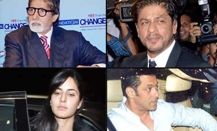 shah rukh salman katrina and big b down with dengue view
