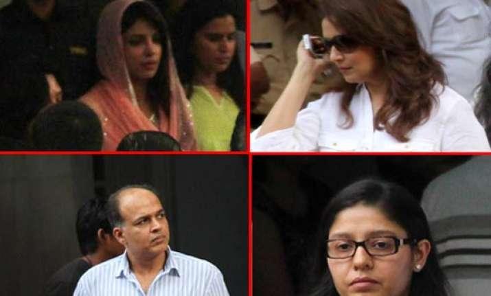 bollywood stars turned out at priyanka chopra s father s