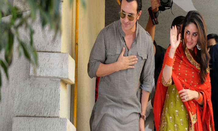 bollywood stars glitter at saif kareena wedding reception