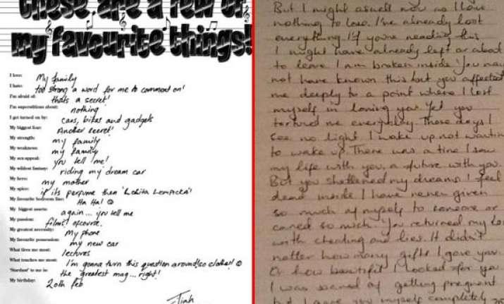 jiah khan suicide fresh handwriting sample heightens