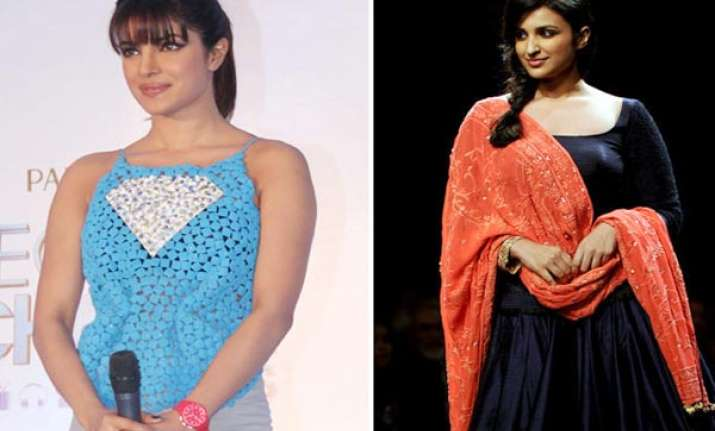 cousins priyanka and parineeti chopra competing for award