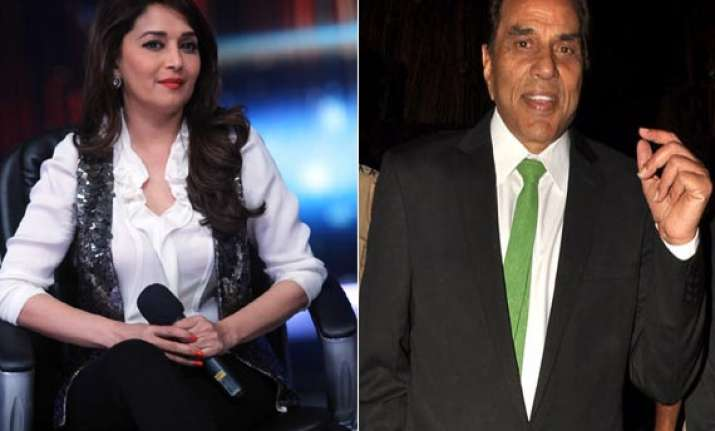 dharmendra the most handsome person says madhuri dixit