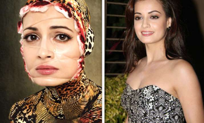 dia mirza dresses as snake for new animal rights campaign