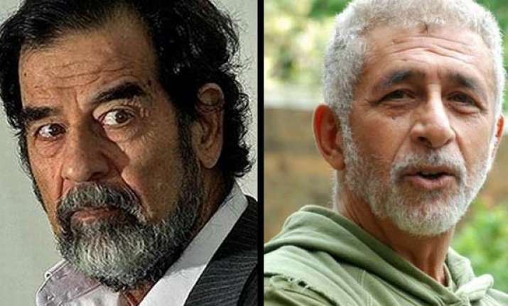 director wants naseer as saddam