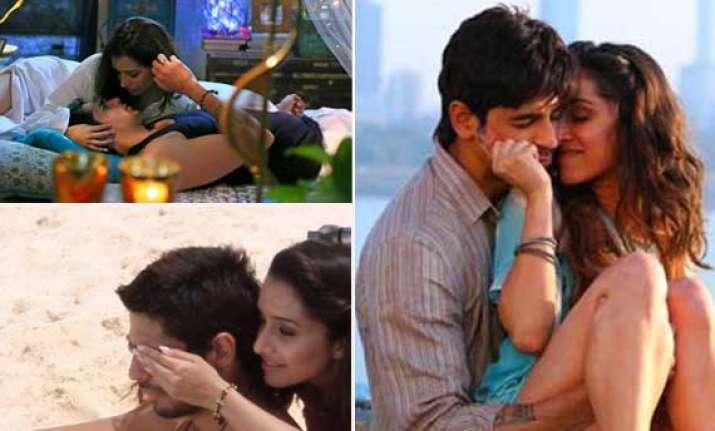 ek villain new stills shraddha siddharth get intimate in