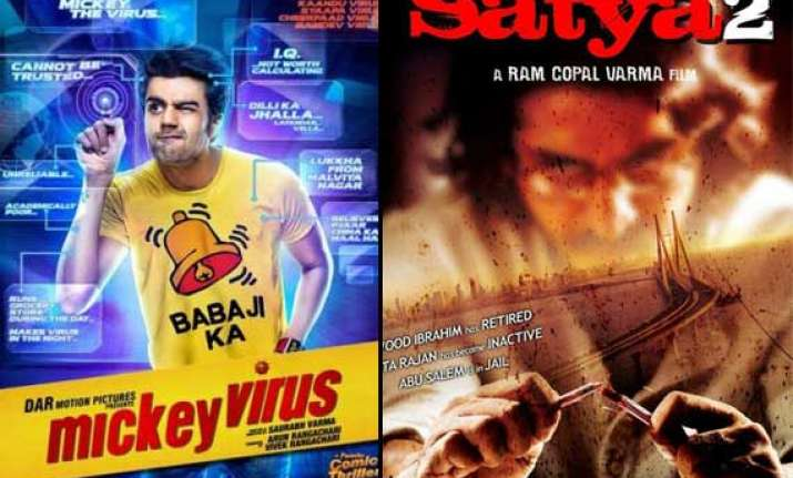 friday release satya 2 mickey virus ishq actually to clash