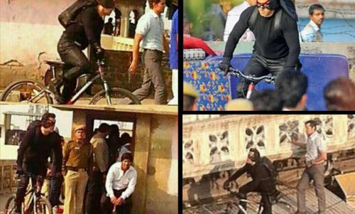 salman khan spotted performing stunts in delhi for kick