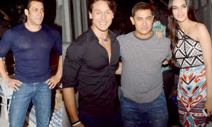 heropanti earns rs 21.33 cr in weekend salman and aamir