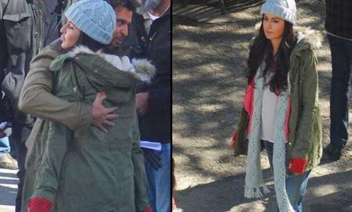 hrithik katrina spotted shooting in shimla for bang bang
