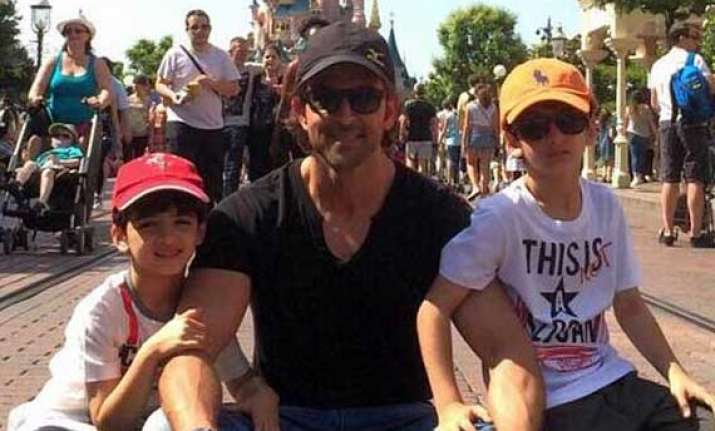 hrithik roshan s day out with kids hrehaan and hridhaan in