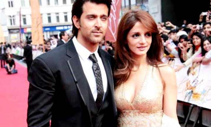 hrithik sussanne come together to celebrate their son s