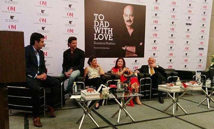 to dad with love hrithik sunaina launch book on rakesh