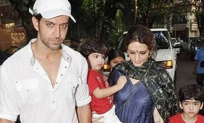 hrithik roshan and sussanne reconcile for son hrehaan s