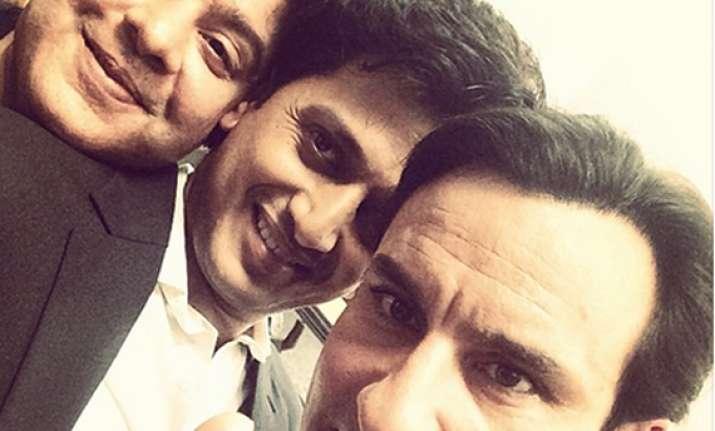 saif reteish sajid wraps up humshakal with a selfie see pics