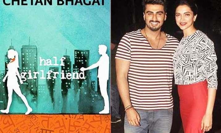 chetan bhagat s half girlfriend movie deepika arjun to play