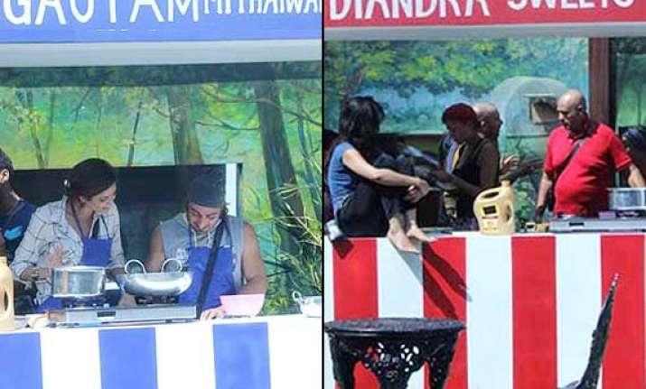 bigg boss 8 day 30 gautam mithaiwala vs diandra sweets