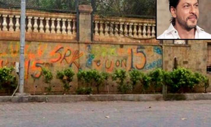 revealed this is the reason behind the graffiti on srk s
