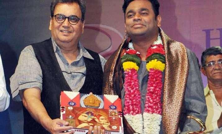 subhash ghai was first to approach a.r. rahman for bollywood