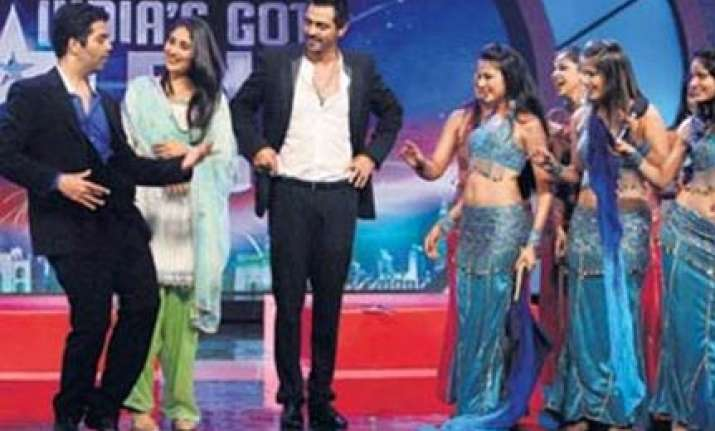 karan johar does a belly dance