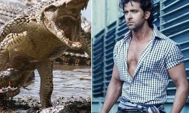 omg hrithik roshan to fight 20 foot crocodile in mohenjo