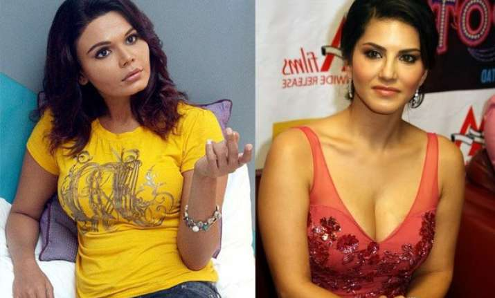 ooppss rakhi sawant takes a dig at sunny leone over