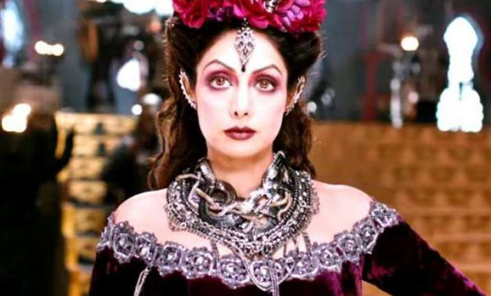 puli trailer released check out sridevi s imperious