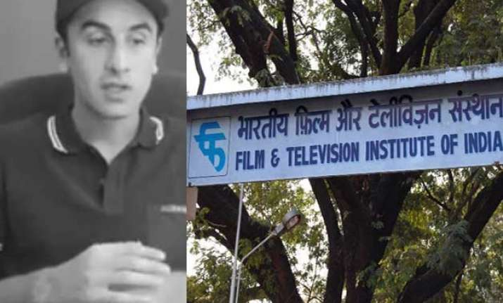 ftii row ranbir kapoor supports the students