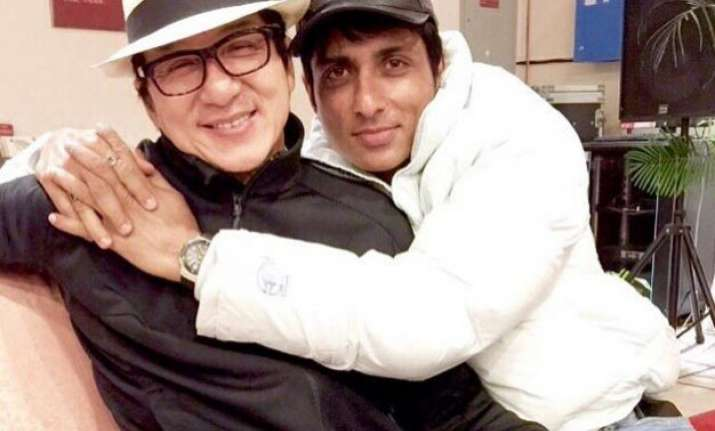 sonu sood gets jacket as gift from his bro jackie chan