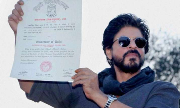 a really long time shah rukh khan gets his college degree