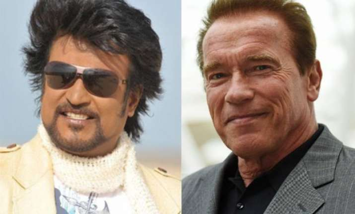 woah rajinikanth and arnold schwarzenegger to feature in