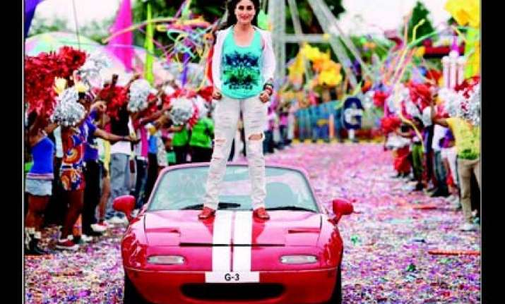 kareena performs car stunt in golmaal 3