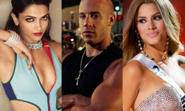 not deepika but miss colombia to play vin diesel s love