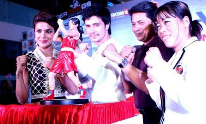 mary kom team cheers for real mary kom