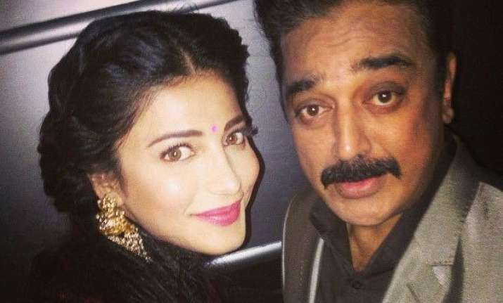shruti haasan to work with dad kamal haasan in tamil film