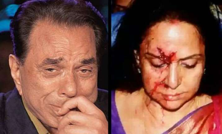 hema malini accident dharmendra reacts on accident and