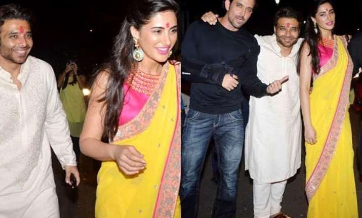 uday chopra nargis fakhri celebrate diwali together is the