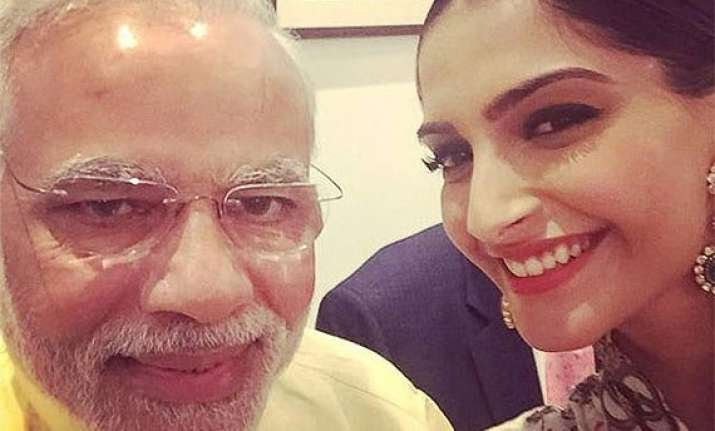 narendra modi becomes bollywood s most loved selfie