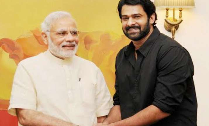 baahubali actor prabhas meets pm modi