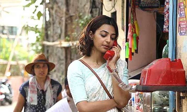 radhika apte goes smartly weird with sneakers on sari in
